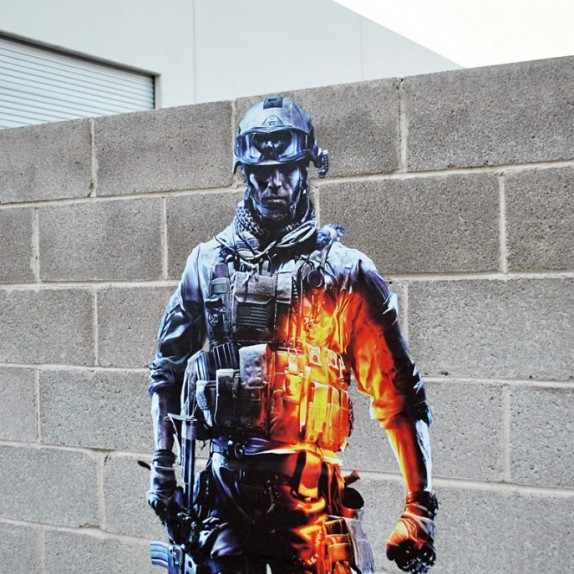 Battlefield 3 wall graphics from WALLS 360!