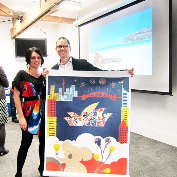 Custom Wall Graphics for Austrade's Digital Australia Shootout!