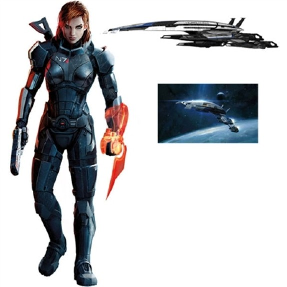 #FemShepFriday: $99 @Walls360 FemShep wall graphic combo packs from #MassEffect3. Save $69!