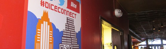 SXSW 2012: Custom Graphics for #DiceConnect!