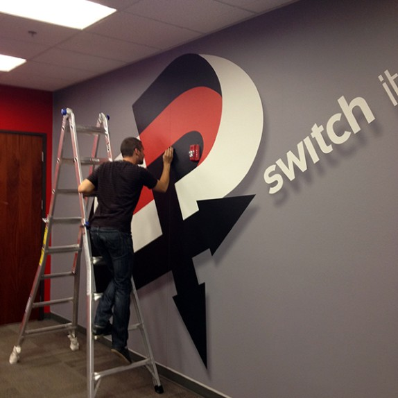 Wall-to-Wall Custom Wall Murals for the Switch InNEVation Center in Las Vegas!