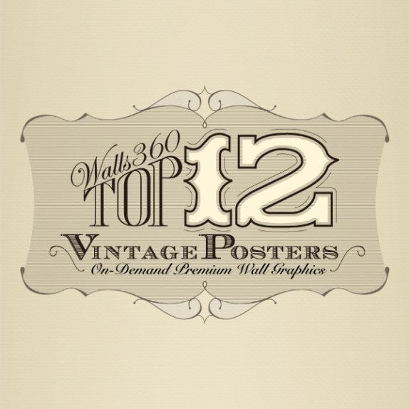 Infographic: Top Vintage Poster Wall Graphics from WALLS 360!