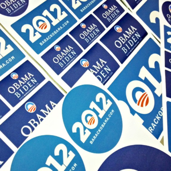 Political Campaign Re-Usable Wall Graphics + Premium Promotional Badges from WALLS 360!