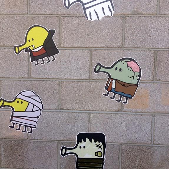 Doodle Jump Halloween Wall Graphics!