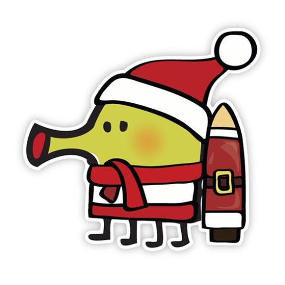 Doodle Jump holiday wall graphics for the December 2012 Loot Crate!