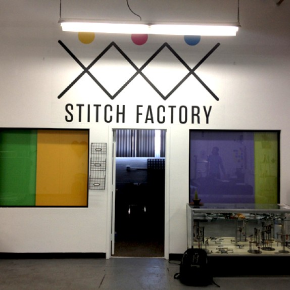 Custom Wall Graphics + Promotional Badges for Stitch Factory in Downtown Las Vegas!