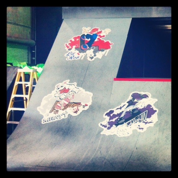 Custom Wild Grinders Wall Graphics for Rob Dyrdek's Fantasy Factory!