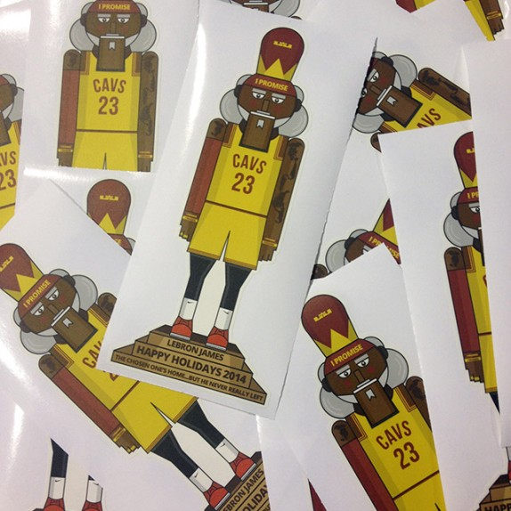 Custom #KingJames Holiday Wall Graphics for LRMR and The LeBron James Family Foundation