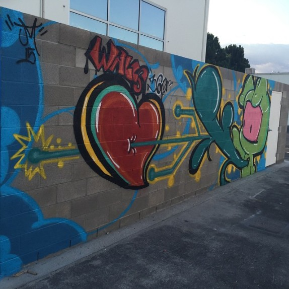 Juan Muniz Mural at the Walls360 Wall Graphics Factory in Las Vegas