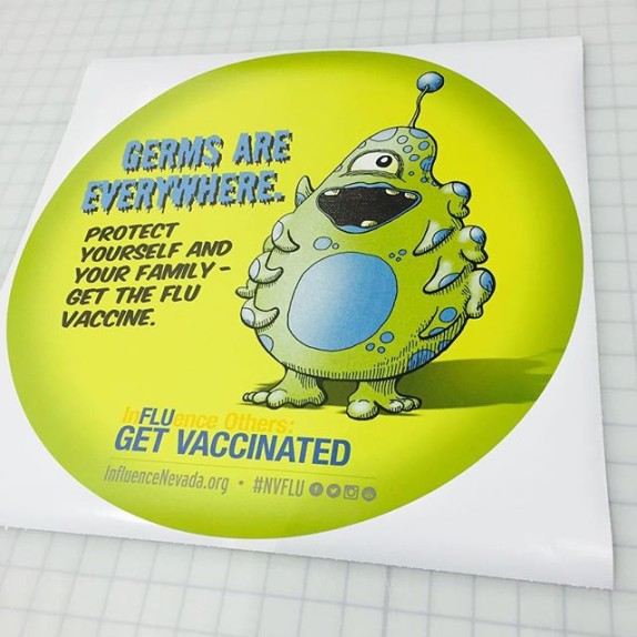 Walls360 Custom Wall Graphics for Immunize Nevada #NVFLU