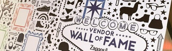 Begsonland custom wall graphics for Zappos in Las Vegas
