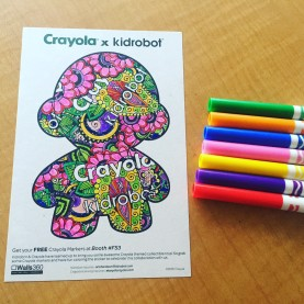 Walls360 custom COLORING wall graphics for Crayola x Kidrobot at #LicensingExpo16 #LasVegas
