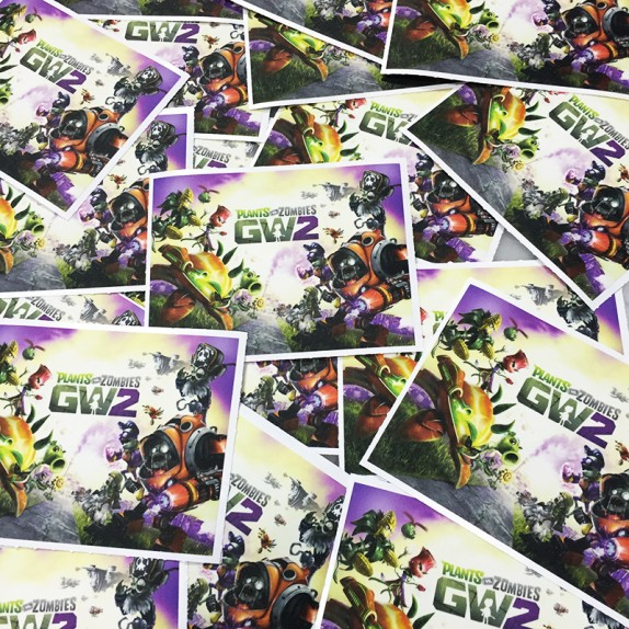 Walls360 custom Garden Warfare 2 mini wall graphics for Geek Fuel #PvZ #GW2 #GeekFuel