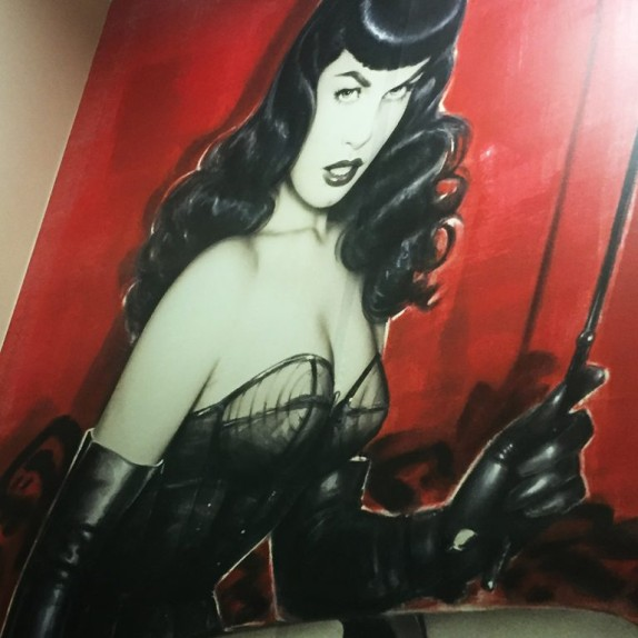 Walls360 Custom Wall-to-Wall Graphics for the Bettie Page Store in Santa Monica
