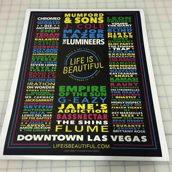 Walls360 Custom Festival Graphics  for Life is Beautiful in Las Vegas #LIB2016 #DTLV