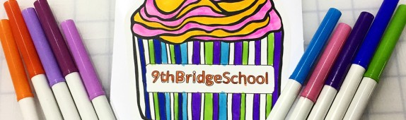Walls360 custom wall graphics for the 9th Bridge School in Downtown Las Vegas #DowntownProject #KidzStreetFestival