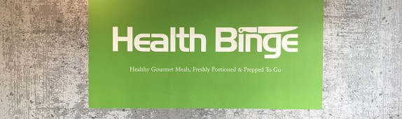 Walls360 custom wall-to-wall graphics for Health Binge #TryHealthBinge
