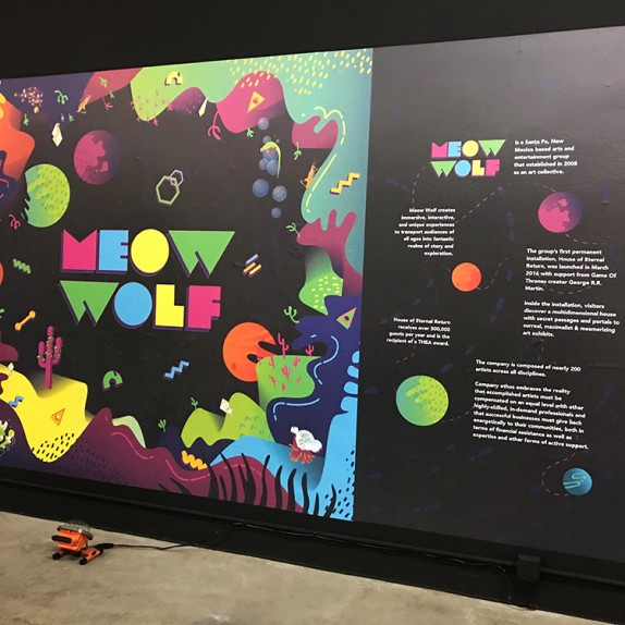Walls360 custom wall graphics for MEOW WOLF in Las Vegas, Nevada!  #MeowWolf #Area15