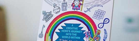 Walls360 custom wall graphics for the launch of The Keepers of Color: A Creative Hero's Journey #HerosJourney #ColoringBook #CafeGratitude #KeepersofCOLOR
