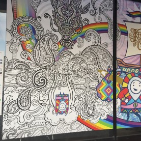 Walls360 Custom COLORING Wall Graphics #DenverStartupWeek #CreativeStartups #EXPONENTIAL #ColoringParty