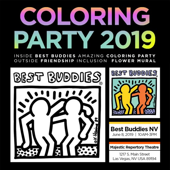 FRIENDSHIP + INCLUSION + COMMUNITY BEST BUDDIES NEVADA + MAJESTIC REPERTORY THEATRE  MURAL