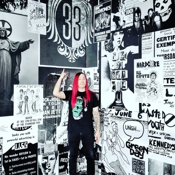 Walls360 custom wall-to-wall graphics for AMERICAN IDIOT #MajesticRepertoryTheatre  #YCMF #LasVegas #NEVADA #USA