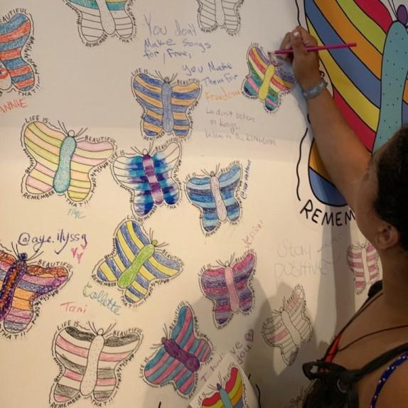 Walls360 custom BIG WALL GRAPHICS for the LIFE IS BEAUTIFUL festival LAS VEGAS DOWNTOWN #DTLV #LIB2019 #COLORING