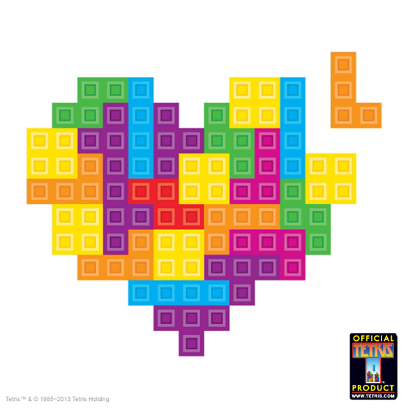 Special Edition Tetris™ Wall Hearts for the February 2013 Loot Crate!