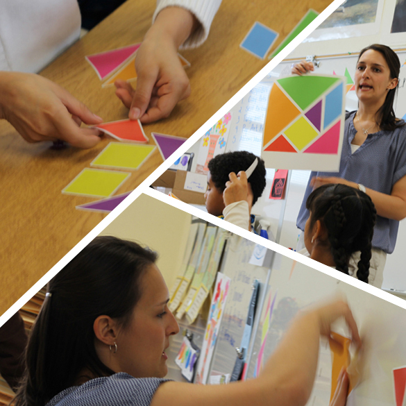 Tangrams for Teachers: Art Class Wall Tangrams at Kermit Booker Elementary, Las Vegas!