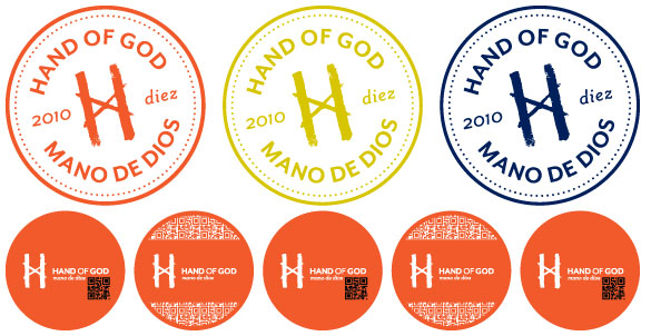 Custom Wall Graphics + On-Demand Promotional Products for Hand of God Wines at the MidAtlantic Wine + Food Festival!