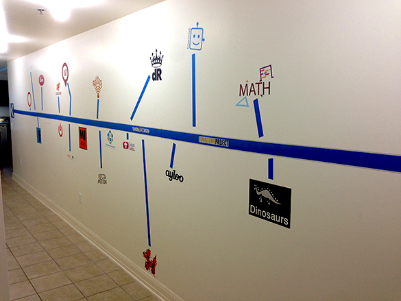 Custom #VegasTech Wall Graphic Timeline for TicketCake HQ!