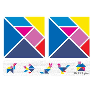 Re-Positionable Wall Tangrams for The Clark County School District!