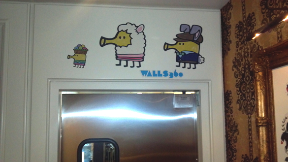 WALLS 360 On-Demand Wall Graphics for Startup Debut at NAB: Featuring Doodle Jump, Fraggle Rock, and Moshi Monsters Wall Art!