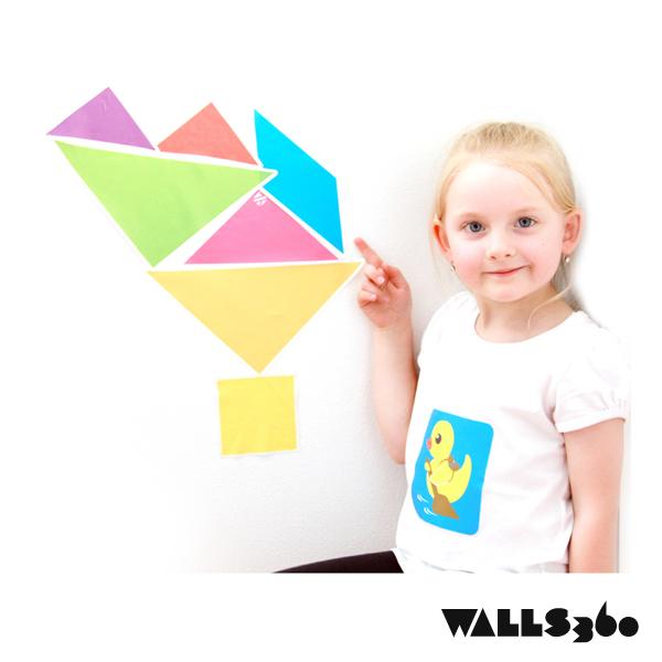 Wall Tangrams for Teachers: Family Art Night at Lamping Elementary, Las Vegas!