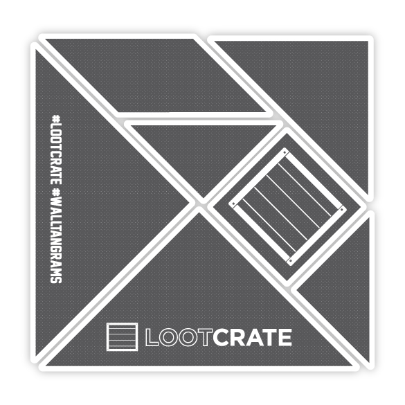 Custom #WallTangrams for #LootCrate!