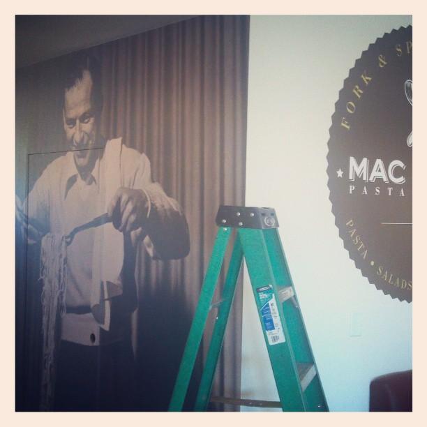Custom Wall-to-Wall Wall Graphics for Mac Shack, Las Vegas!