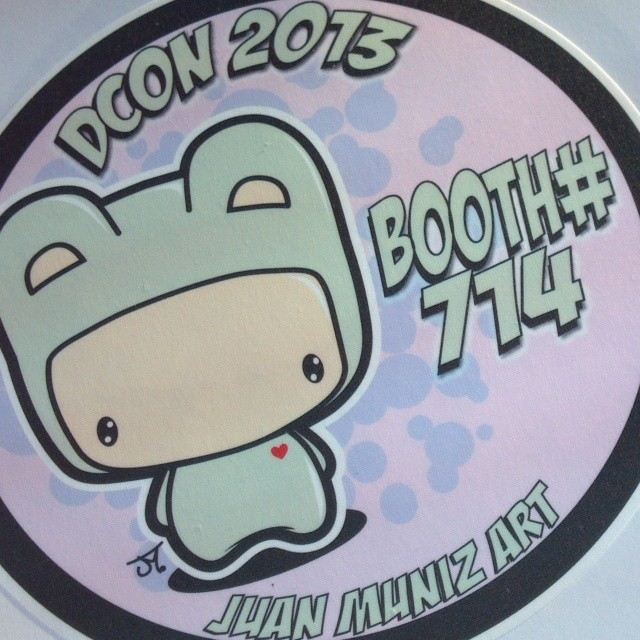 Custom Graphics for Juan Muniz at DesignerCon 2013!