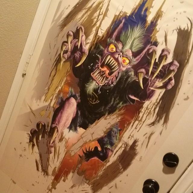 Holiday Special: Exclusive Derek Riggs Door Monster Wall Graphics!