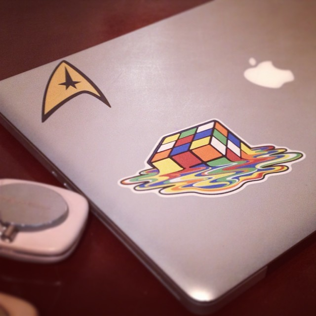 Star Trek & Rubik's Cube Re-Positionable Walls360 Custom Graphics for Loot Crate!