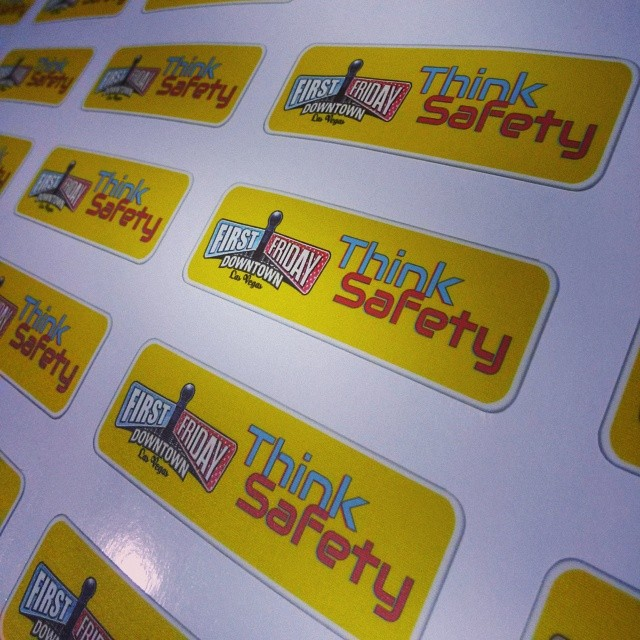On-Demand 'Think Safety' Re-Positionable Walls360 Graphics for First Friday, Las Vegas