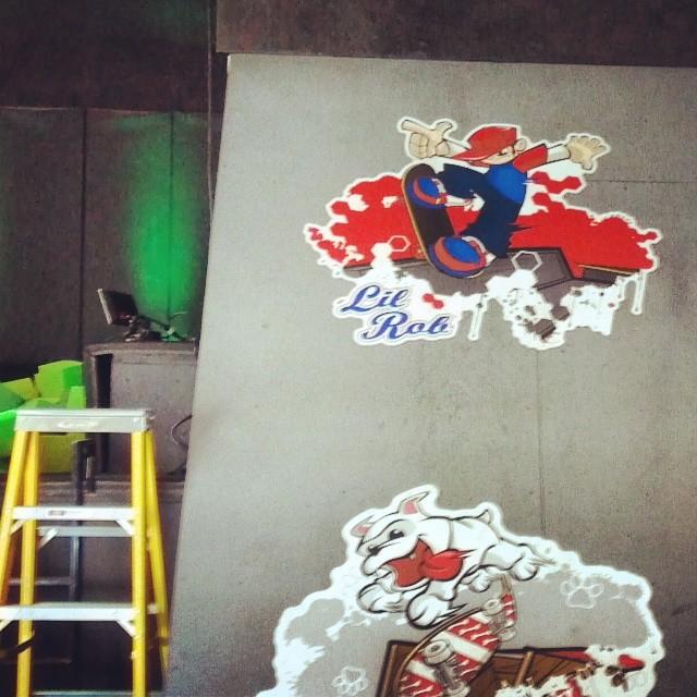 Custom Wild Grinders Wall Graphics for Rob Dyrdek's Fantasy Factory!