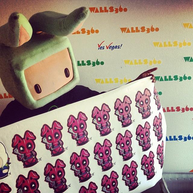 Custom Walls360 Wall Graphics for Juan Muniz at First Friday, Las Vegas!