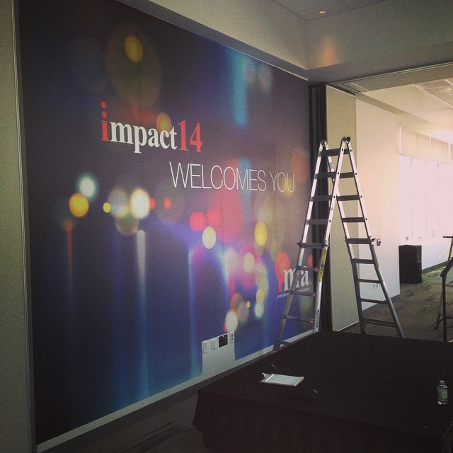 Walls360 Custom Wall Graphics for #Impact14 in Las Vegas