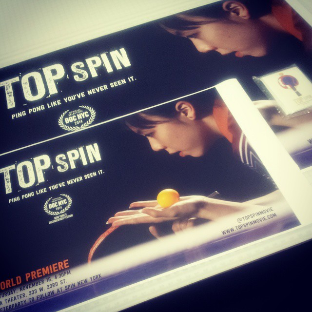 Custom Wall Graphics for Top Spin World Premiere at DOC NYC!