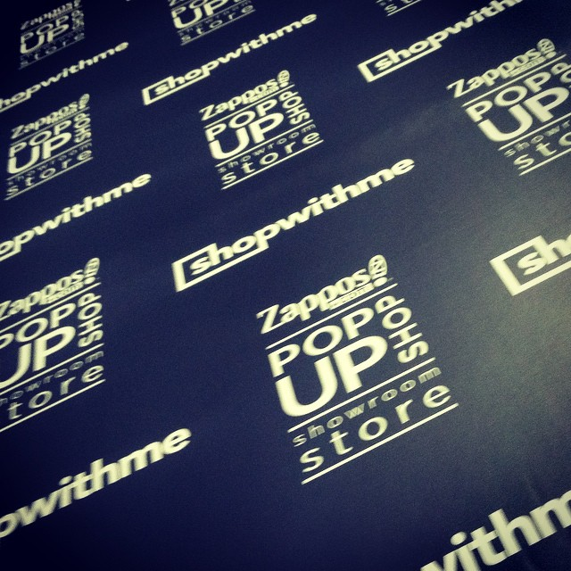 Custom Wall-to-Wall Graphics for the Zappos Pop-Up Store in Las Vegas