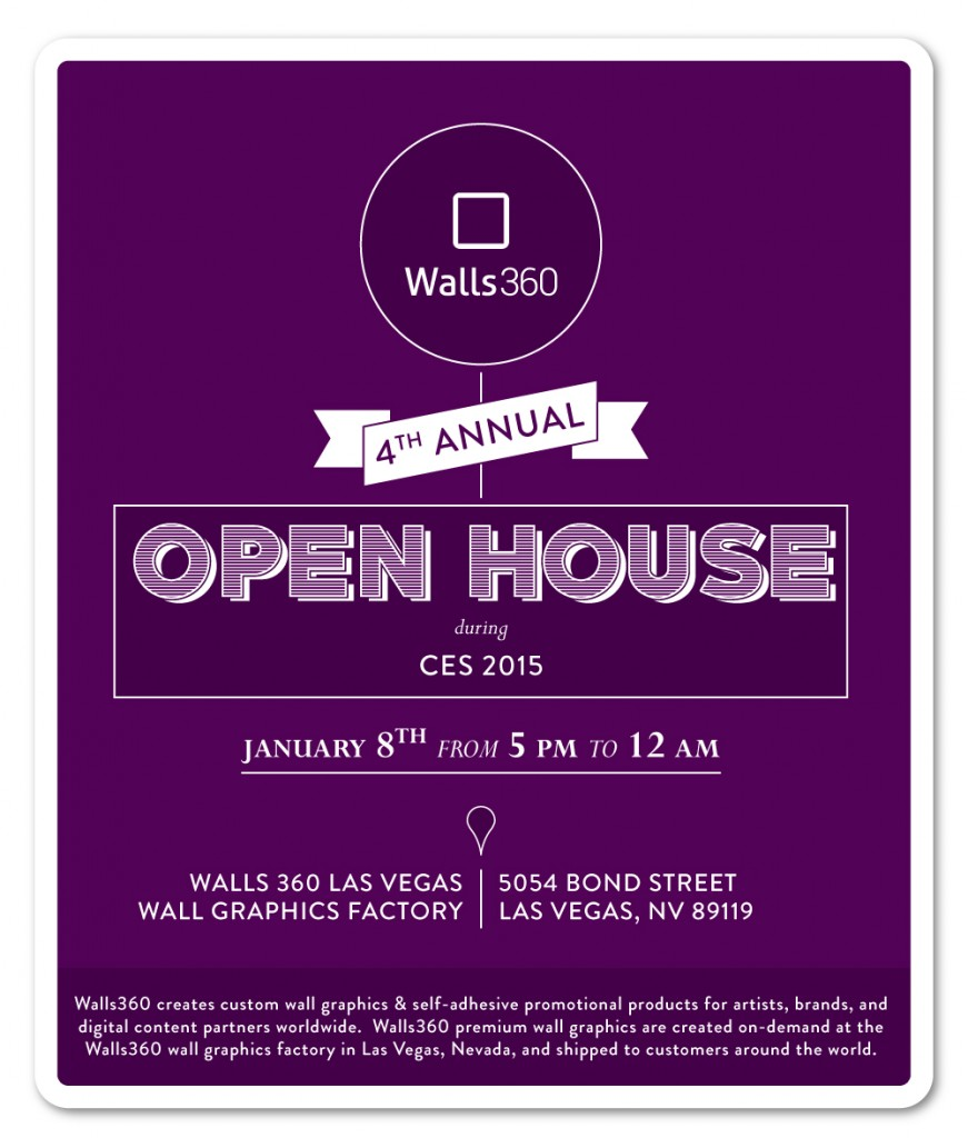 #CES2015: Fourth Annual Open House during CES at the Walls360 Las Vegas Wall Graphics Factory