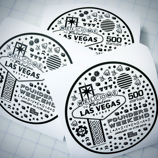 Custom Graphics for 500 Startups Founders Weekend in Las Vegas
