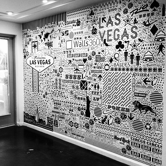 Custom Begsonland Graphics at the Walls360 Las Vegas Wall Graphics Factory #CES2015 Open House