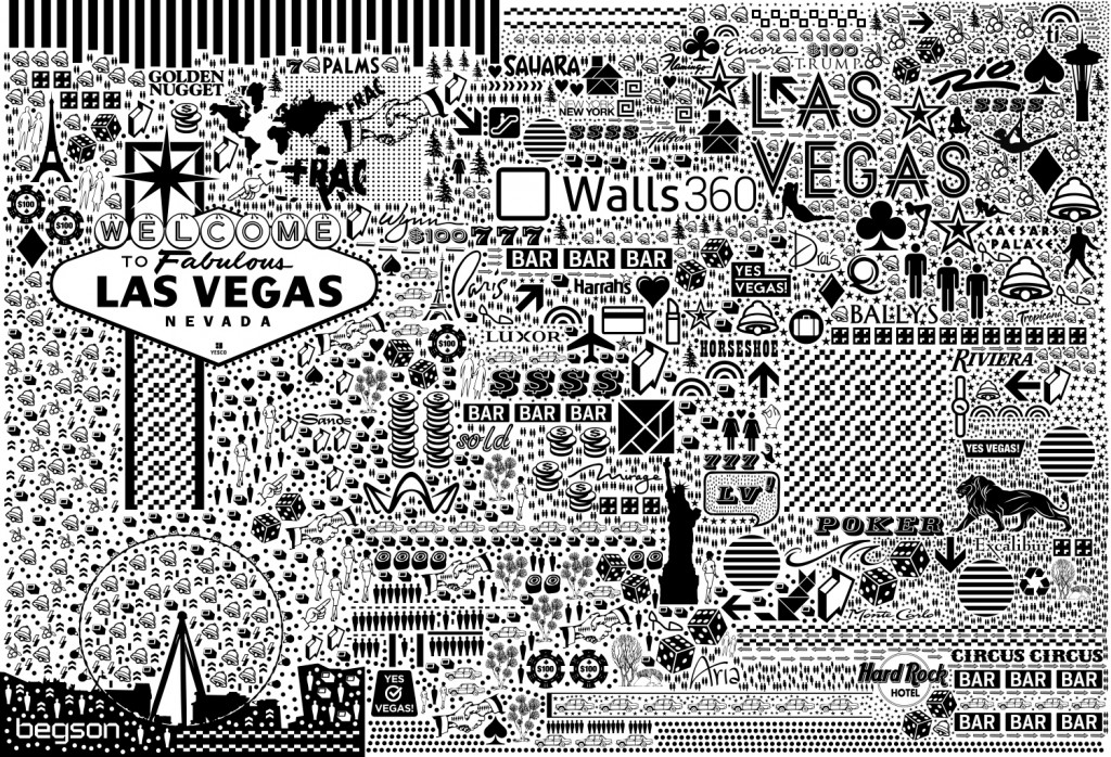 Custom #Begsonland Wall Graphics for the Walls360 #CES2015 Open House