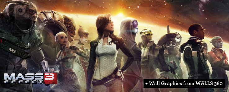 Mass Effect wall graphics from Walls360